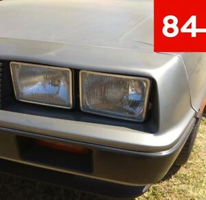 DMC de Lorean Delorean 4x Headlight US Eu E-Certified Retrofitting +