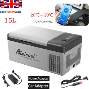 Alpicool Freezer 15L Car Fridge Freezer -20℃ 12V/24V 45W Cooler Camping Cool Box