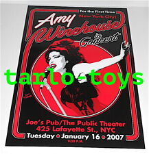 AMY WINEHOUSE  - New York, Us - 16 january 2007  - concert poster