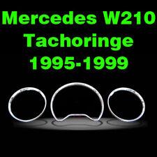 Tachoringe Mercedes W210 E 99-03 Mopf CLK Silber/Titan Tacho Silbertachoringe