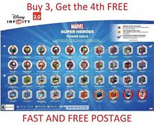 DISNEY INFINITY POWER DISCS 2.0 Marvel Avengers, works with 2.0 & 3.0