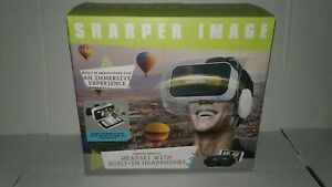 Sharper Image Virtual Reality Headset With Built In Headphones  Brand New
