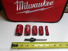 "Morse  6pc Mechanic's Hole Saw Kit in Milwaukee Canvas Case 5/8"" TO 2 1/4"""