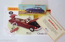 Dinky Toys Atlas Citroën DS 530 + Fascicule et pin's - Neuf - art: COL10