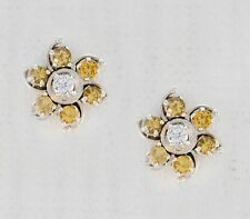 Yellow 925 Sterling Silver genuine captivating Citrine supply Earring AU gift