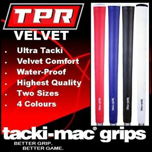 TACKI-MAC TPR VELVET 60R STANDARD MIDSIZE GOLF GRIP BLACK BLUE RED WHITE NEW