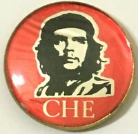 ERNESTO EL CHE GUEVARA - Old OG Vintage 1980`s Crystal Prismatic Pin Badge