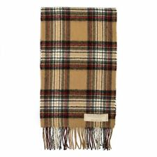 Scottish Lochcarron Wool Tartan Scarf - Stewart Camel