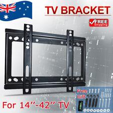 Slim TV Wall Bracket Mount 14-42 32 39 40 42 inch Plasma LCD LED Monitor Flat