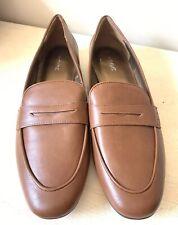 Next Ladies Shoes 8 Flat Loafers Smart Summer Brown Work Office Vegan New £26