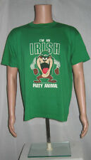 Vintage 1990 Irish Party Animal Tasmanian Devil T-Shirt L Artex Unworn Deadstock