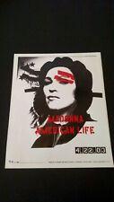 "MADONNA "" AMERICAN LIFE 4.22.03 "" RARE ORIGINAL PRINT PROMO POSTER AD"