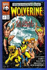 WOLVERINE GLOBAL JEOPARDY # 1- 1993 Marvel -  (vf)  World Wildlife Fund
