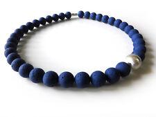 A Sign *Blue Night* Kette Polaris/Harz Gala Sweet Kugel gebürstet Blau/Silber