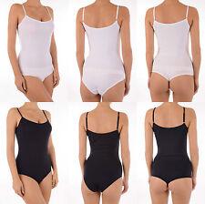 Cotton Patternless Sleeveless Lingerie Bodies for Women