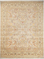 9X12 Hand-Knotted Lahore Carpet Oriental Grey Fine Wool Area Rug D40550