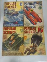 Popular Science 1938 Magazine Set of 4 May through August Art deco Vintage