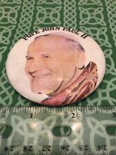 Pope John Paul II Large Pin Pinback Catholic Pope Memorabilia FREE SHIPPING