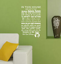 WE DO DISNEY inspirational wall Quote house rules vinyl decal sticker art DHR2