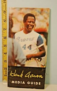 1974 Hank Aaron Atlanta Braves Hammerin Hank Media Guide