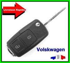 Coque Télécommande Plip Clé 2 Boutons Vw Volkswagen, Polo, Passat, Golf + Clé