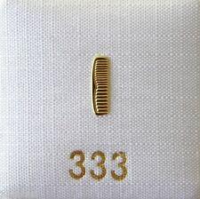 Singleohrstecker Ohrstecker Kamm 333 Gold einzeln