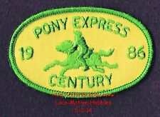 LMH PATCH Badge  1986 PONY EXPRESS CENTURY  Epic Bike Bicycle Ride  Annual Event