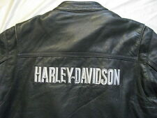 Harley Davidson Leather Jacket Cafe Racer Factory Embrioder Nice Patina Men L