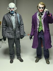 1/6 Scale Joker DC Dark Knight Heath Ledger Custom Set Bank Robber
