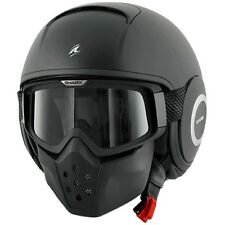 CASCO SHARK RAW NEGRO MATE   +++TALLA XS+++