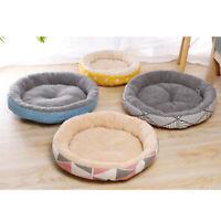Katzenbett Hundebett Plüsch Kuschelbett rundes Haustierbett für Hund und Katze