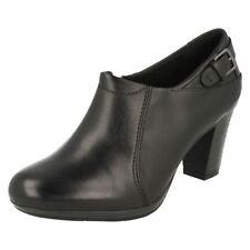 Wide (E) Block Formal 100% Leather Upper Heels for Women