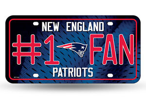 New England Patriots #1 Fan Metal Sign License Plate Tag Man Cave NFL