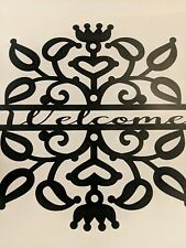 Large Welcome Door Wall Decal Sticker Black Home Decor