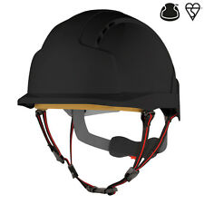 JSP EVOlite Skyworker black industrial climbing safety helmet hard hat