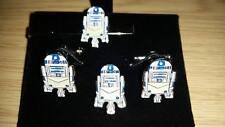 R2D2 as a Fellow craft Free mason Tie slide/ lapel pin set, Masonic Star Wars