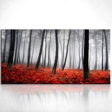 Landschaft Bäume Bild auf Leinwand Bilder Wandbilder Kunstdruck D0369