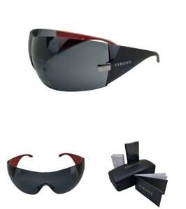 VERSACE VE 2054 100187 41 Gunmetal Dark Grey sunglasses AUTHENTIC Womens NEW