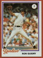 1978 Topps Burger King #4 Ron Guidry Near Mint-Mint New York Yankees Cy Young
