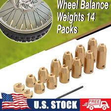 14xreusable Brass Wheel Spoke Balance Weight Refill Kit Withhex Allen Wrench Tool