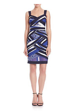 d3bbe9446bfd Tadashi Shoji Taura Mesh Floral Print Crisscross Multicolor Short Dress  Size XS