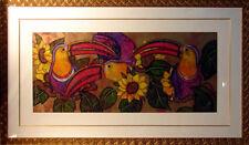 """Luis Sottil """"Playful Posture"""" Tucans birds Hand Signed Artwork, Submit An Offer!"""