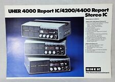 Vintage UHER 4000 Report IC/4200/4400 Report Stereo Brochure 2 pp color English