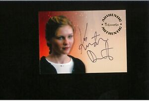 Kirsten Dunst ONLY Autograph Card Inkworks Auto Spider-Man SMALL SOLDIERS Fargo