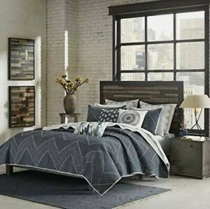 ink+ivy ii13-565 pomona 3 piece coverlet mini set, king/california king, navy