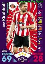262 Jan KIRCHHOFF GERMANY SUNDERLAND.AFC CARDS PREMIER LEAGUE 2017 TOPPS