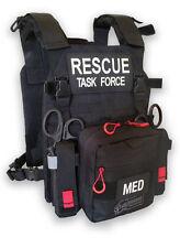NEW! RESCUE TASK FORCE RAPID VEST - BLACK W/MEDICAL SUPPLIES (30-0316)