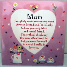 """mum"" Magnet With Inspirational Loving Verse Sweet Birthday Gift"