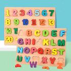 Holz Puzzle Brett Spielzeug Nesting Pädagogisches Alphabet Anzahl Baby