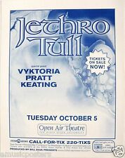JETHRO TULL 1999 SAN DIEGO CONCERT TOUR POSTER -Ian Anderson, Classic Rock Music